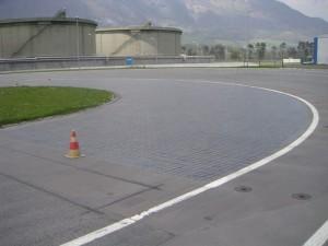 Dlažba SKID-PAN automobilový polygon 1