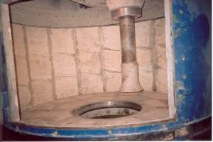 Atypická eucorem vyložená míchačka