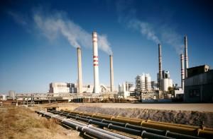 Potrubní trasy v elektrárně čedičové vyložení