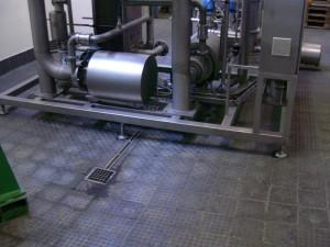 Podlaha v pivovaru
